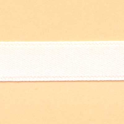 10mm Satin Ribbon - White