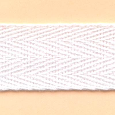 20mm Cotton Twill Tape - White