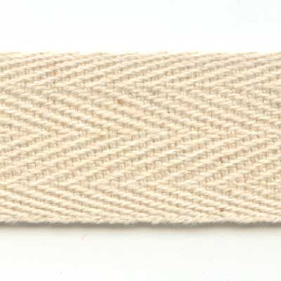 20mm Cotton Twill Tape - Natural
