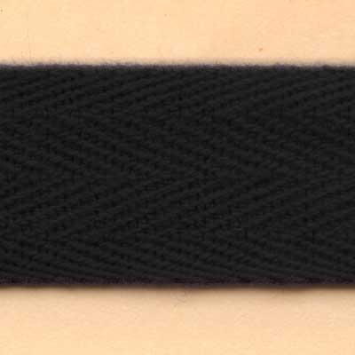20mm Cotton Twill Tape - Black