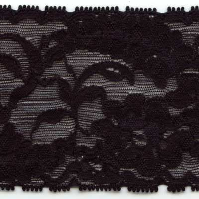 85mm Stretch Lace - Black