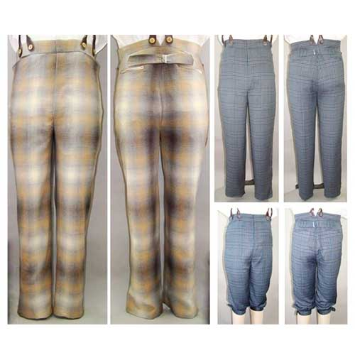 LM119 Men's Victorian to Edwardian Trousers Pattern
