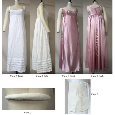 LM132 Bodiced Petticoat, Bum Roll & Pocket Pattern