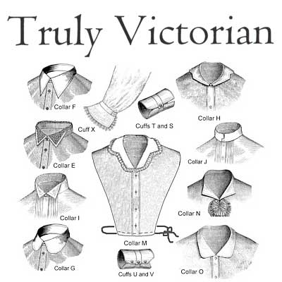 TV104 Bustle Era Collars and Cuffs
