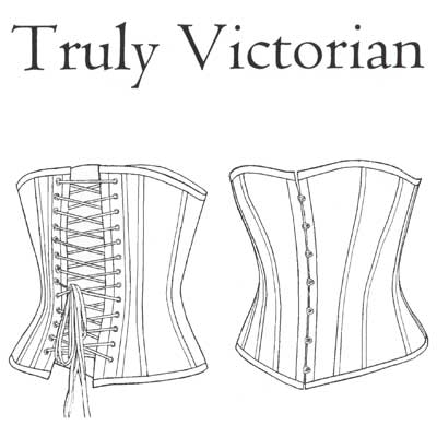 TV110 1880's Late Victorian Corset Pattern