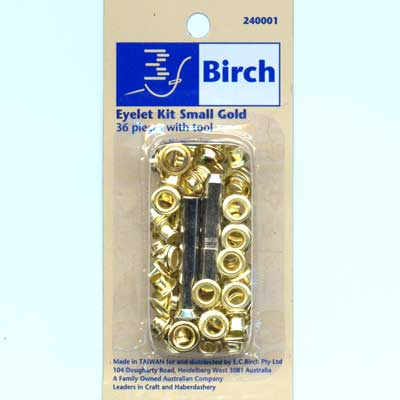 Small Eyelet Starter Kit - Gold