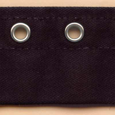 Off-Centre Eyelet Tape - Black