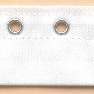 Off-Centre Eyelet Tape - White