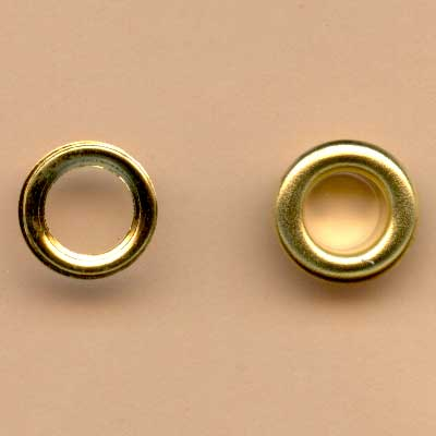 6mm Large Eyelets - Gold