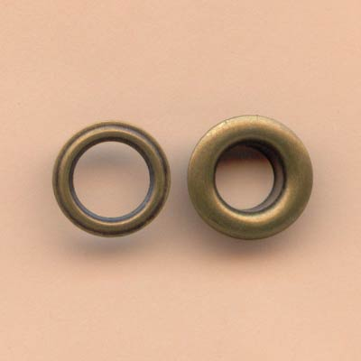 6mm Large Eyelets - Antique Brass