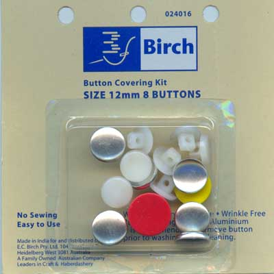 Button Covering Kit - 12mm