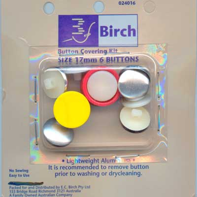 Button Covering Kit - 17mm