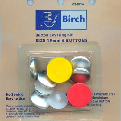 Button Covering Kit - 19mm