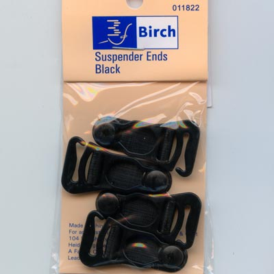Hook-on Suspender Ends - Black