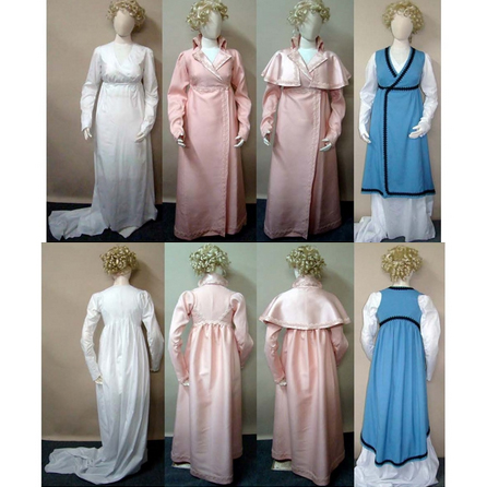 LM130 Wrapping Front Gown, Redingote and Tunic Pattern