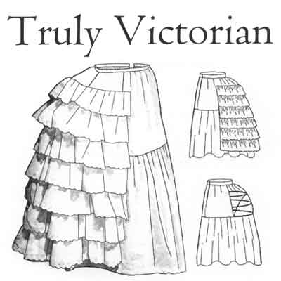 TV101 Petticoat with Wire Bustle